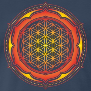 Flower of Life, Energy Symbol, Sacred Geometry T-Shirts - Men's Premium T-Shirt