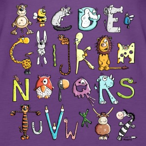 Colorful Animal Alphabet - Animals Tanks - Women's Premium Tank Top