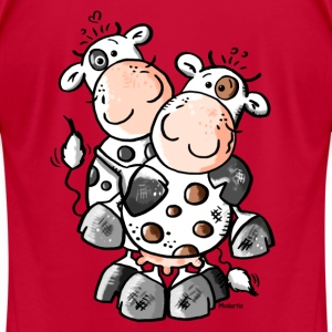 Cuddly Cows - Cow T-Shirts - Men's T-Shirt by American Apparel