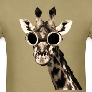 Giraffe With Steampunk Sunglasses Goggles T-Shirts - Men's T-Shirt