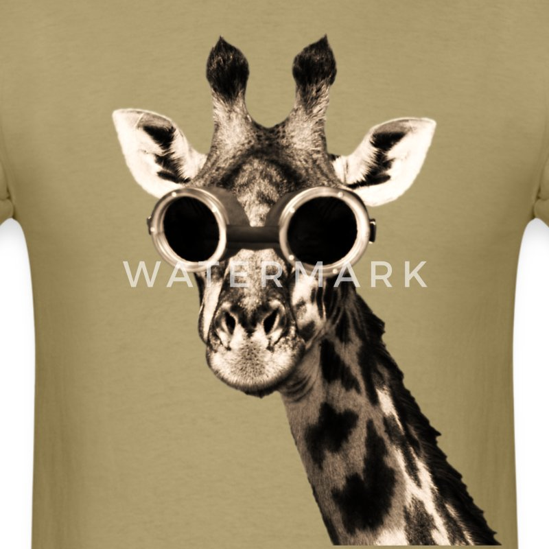Giraffe Wearing Sunglasses  giraffe t shirts spreadshirt