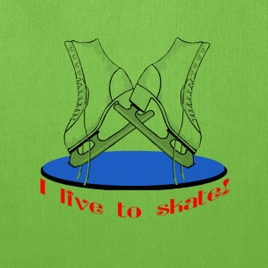 I Live To Skate Bags & backpacks - Tote Bag
