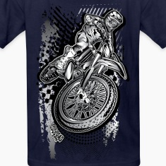 MX Dirt Bike Grunge Kids' Shirts