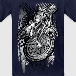 MX Dirt Bike Grunge Kids' Shirts - Kids' T-Shirt