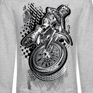 MX Dirt Bike Grunge Long Sleeve Shirts - Crewneck Sweatshirt