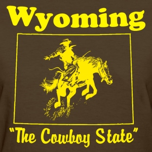 womens wyoming the cowboy state t shirt - Women's T-Shirt