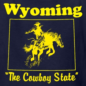 kids wyoming the cowboy state vintage style t shir - Kids' T-Shirt