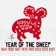 Chinese New Year of The Sheep Ram Goat
