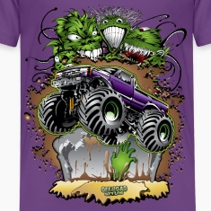 Monster Zombie Truck Kids' Shirts