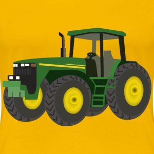 Green Tractor - Women's Premium T-Shirt