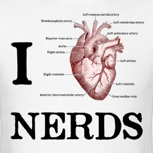 I Heart Nerds T-Shirts - Men's T-Shirt