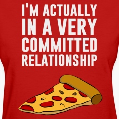 Pepperoni Pizza Love - A Serious Relationship Women's T-Shirts