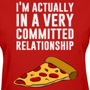Pepperoni Pizza Love - A Serious Relationship Women's T-Shirts - Women's T-Shirt
