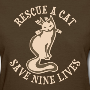 Rescue A Cat Save Nine Lives Women's T-Shirts - Women's T-Shirt