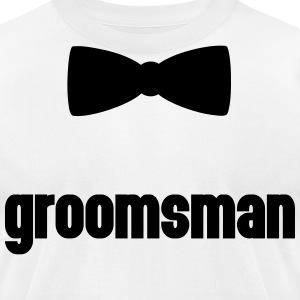Groomsman Bow Tie  T-Shirts - Men's T-Shirt by American Apparel