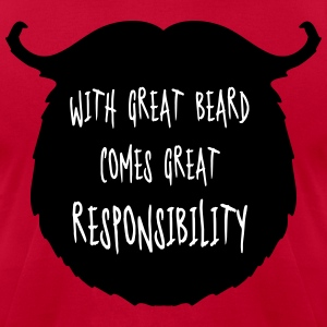 Great Beard Responsibility  T-shirts - T-shirt pour hommes American Apparel