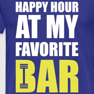 Happy hour at my favorite bar T-Shirts - Men's Premium T-Shirt