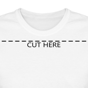 Cut Here Women's T-Shirts - Women's T-Shirt