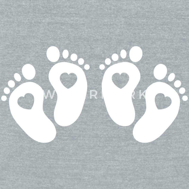 Twin Feet T-Shirts - Unisex Tri-Blend T-Shirt by American Apparel