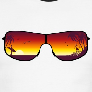 Summer Sunglasses T-Shirts - Men's Ringer T-Shirt