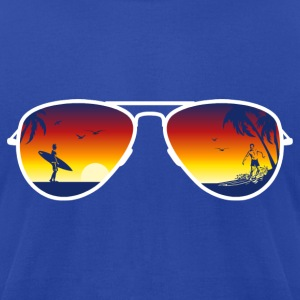 Summer Sunglasses T-Shirts - Men's T-Shirt by American Apparel