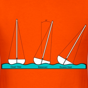 Heeling Sailing - Men's T-Shirt