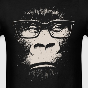 Hipster Gorilla With Glasses T-Shirts - Men's T-Shirt