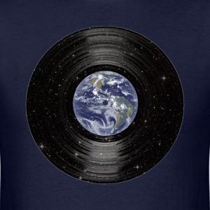 Earth In Space Vinyl LP Record T-Shirts - Men's T-Shirt