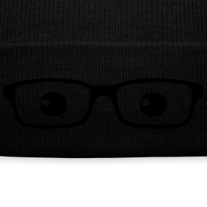 Nerd knit cap - Knit Cap with Cuff Print