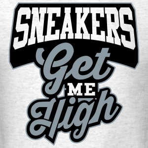 Sneakers Get Me High Wolf Grey - Men's T-Shirt