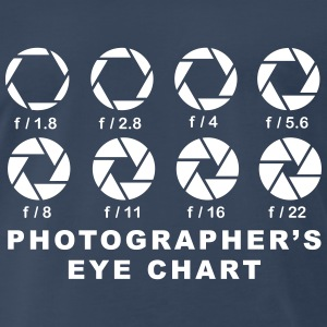 photographers eye chart 4 T-Shirts - Men's Premium T-Shirt