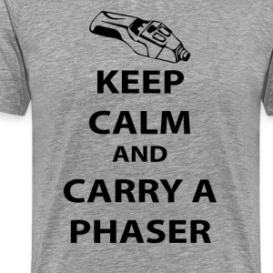 keep calm and carry a phaser T-Shirts - Men's Premium T-Shirt