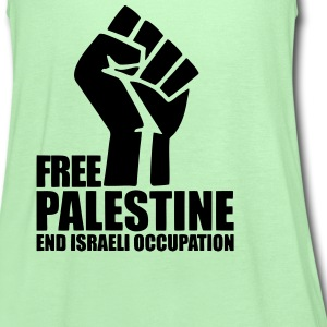 Free Palestine End Israeli Occupation Tanks - Women's Flowy Tank Top by Bella