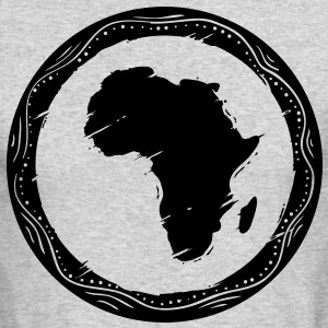 africa map Long Sleeve Shirts - Men's Long Sleeve T-Shirt by Next Level