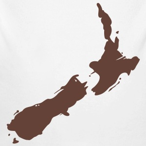 new zealand map Baby & Toddler Shirts - Long Sleeve Baby Bodysuit