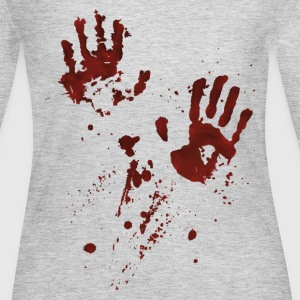 bloody hands Long Sleeve Shirts - Women's Long Sleeve Jersey T-Shirt