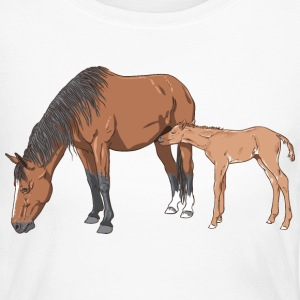 mare & foal Long Sleeve Shirts - Women's Long Sleeve Jersey T-Shirt