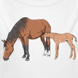 mare & foal Baby & Toddler Shirts - Long Sleeve Baby Bodysuit