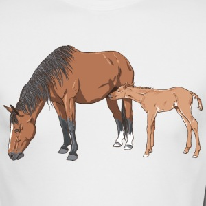 mare & foal Long Sleeve Shirts - Men's Long Sleeve T-Shirt by Next Level