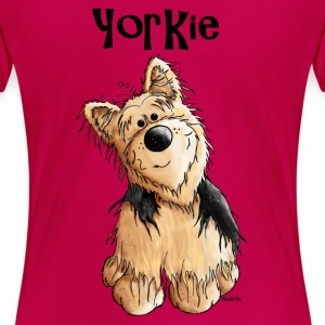 Sweet Yorkshire Terrier - Dog - Dogs Women's T-Shirts - Women's Premium T-Shirt