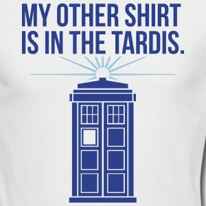my other shirt is in the tardis Long Sleeve Shirts - Men's Long Sleeve T-Shirt by Next Level