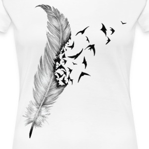 Feather And Bird Women's T-Shirts - Women's Premium T-Shirt