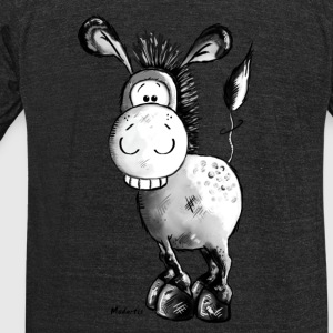 Happy Donkey - Horse - Animal T-Shirts - Unisex Tri-Blend T-Shirt by American Apparel
