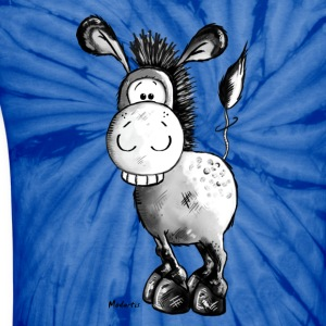 Happy Donkey - Horse - Animal T-Shirts - Unisex Tie Dye T-Shirt