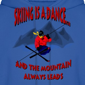 Skiing Is A Dance Hoodies - Men's Hoodie
