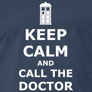keep calm and call the doctor T-Shirts - Men's Premium T-Shirt