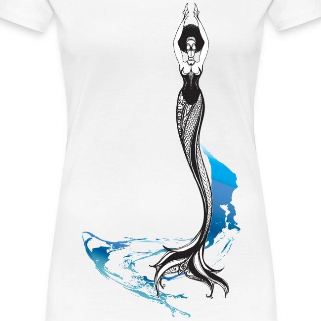 Mermaid in the Waves Ladies' Tee