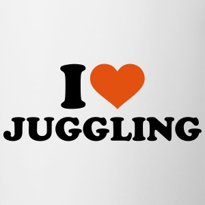 I love Juggling Bottles & Mugs - Contrast Coffee Mug
