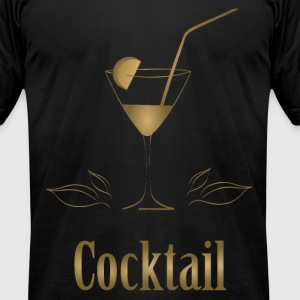 Cocktail T-Shirts - Men's T-Shirt by American Apparel