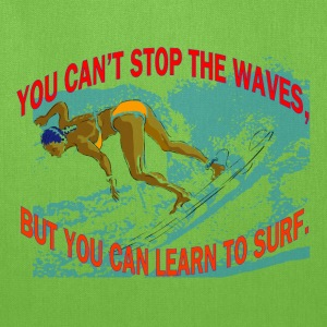 Learn To Surf Tote Bag - Tote Bag